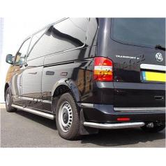 VW Transporter T5 / Multivan T5 / Caravelle T5 - nerez zadní ochranné rámy 63mm