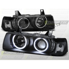 BMW E36 90-99 Angel Eyes black (LPBM68) - sedan, compact, touring
