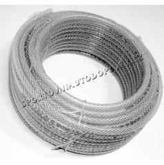 Priehľadná hadica zosilnená opletená 5,8,10, 16 mm (cena za 1 m)