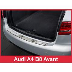 Nerez kryt- ochrana prahu zadného nárazníka Audi A4 B8 Combi 2008-12