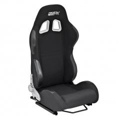 Športová polohovateľná sedačka Race Sport látková čierna