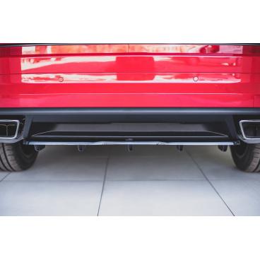 Stredový spojler pod zadný nárazník s rebrovaním pre Škoda KodiaQ RS, Maxton Design (Carbon-Look)