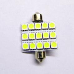 15 veľkých LED žiarovka sulfit biela 42 mm II - 1 ks
