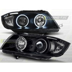 BMW E90, 91 05-08 Angel Eyes black (LPBM62) - CCFL
