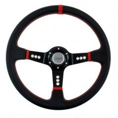 Športový volant WRC black / red 350 mm