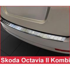 Nerezový kryt zadného nárazníka matný Škoda Octavia II kombi 2004-13
