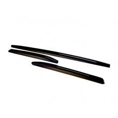 Škoda Kodiaq - dekoratívne lišty predného nárazníka KI-R, 3-dielna sada Glossy black