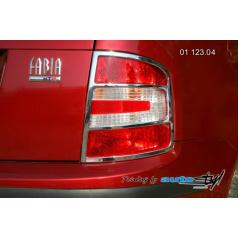 Škoda Fabia rámček zadných svetiel - combi, sedan - chróm (r.v. od 9/2004)