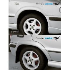 Škoda Felicia Facelift od r.v. 98 nástavky lemy blatníkov normal - pre lak