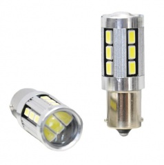 Žiarovka LED BA15S biela CAMBUSA 18LED 5730SMD 2ks