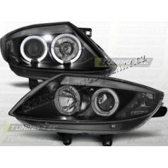 BMW Z4 E85 E86 2002-08 Predné číre svetlá Angel Eyes black