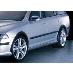 Lemy blatníkov, ABS čierný s rastrom, Škoda Octavia II + Facelift