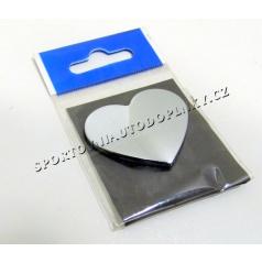 Chróm samolepiace 3D logo srdce
