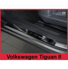 Nerez černé special ochranné lišty prahu dveří 4ks Volkswagen Tiguan 2 2015+