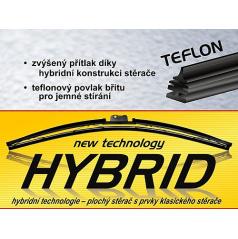 Stierače hybrid - teflónový brit a 11 adaptérov 300mm-710mm