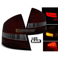 Škoda Octavia 2 Sedan 2004-12 zadné lampy red smoke LED BAR (LDSK12)