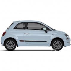 Ochranné bočné lišty na dvere, Fiat 500, 2015+, HTB, Facelift