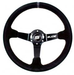 Športový volant WRC čierny semiš 350 mm