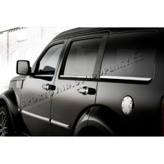 Dodge Nitro - nerez chróm spodné okenné lišty - Omsa Line