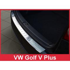 Nerez kryt ochrana prahu zadného nárazníka Volkswagen Golf V Plus 2005-09