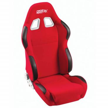Športová polohovateľná sedačka Race Sport látková červená