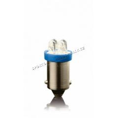 Žiarovka parkovacia T10 4 LED modrá bajonet