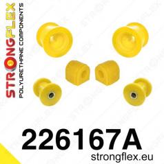 VW Scirocco StrongFlex Sport sestava silentbloků jen pro přední nápravu 6 ks