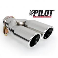 Koncovka výfuku Pilot nerez dual 2x70 mm
