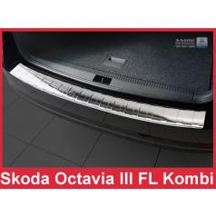 Nerez kryt- ochrana prahu zadného nárazníka Škoda Octavia III FL kombi 2016+