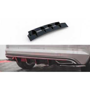 Vložka zadného nárazníka pre Škoda KodiaQ Sportline, Maxton Design (čierny lesklý plast ABS)