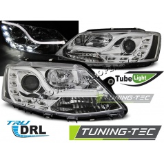 VW Jetta VI 1.2011- predné číre svetlá Tube Light TRU DRL chrome (LPVWL4)
