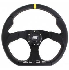 Športový volant SLIDE čierny kožený 350 mm
