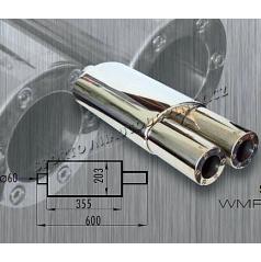 Športový výfuk nerez WM šport R12 dual