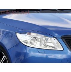 Kryty svetlometov Milotec (mračítka) - ABS čierny, Škoda Fabia II Facelift, Roomster Facelift