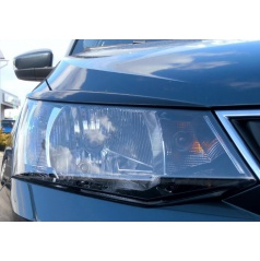 Kryty svetlometov Milotec (mračítka) - ABS čierna metalíza Škoda Fabia III