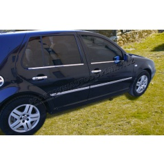 Volkswagen Golf IV nerez chróm spodné lišty okien Omsa Line