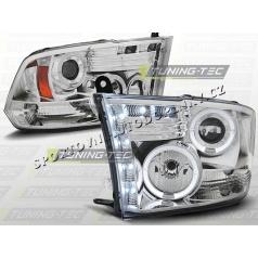 Dodge RAM 2009-11 predné číre svetlá Angel Eyes chrome (LPDO07)