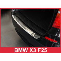 Nerez kryt- ochrana prahu zadného nárazníka BMW X3 F25 2010-14