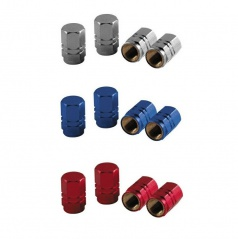 Čiapočky na ventilky - alu šesťhranné rôzne farby sada 4 ks