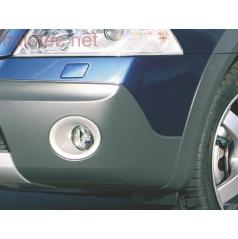 Rámčeky hmlových svetiel - ABS strieborné, Škoda Octavia II RS