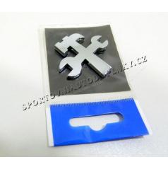 Chróm samolepiace 3D logo náradia