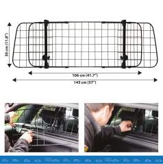 Kovová nastaviteľná mreža do batožinového priestoru (pre psa až do 30kg)
