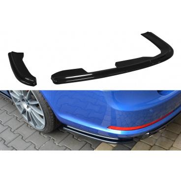 Bočné difúzory pod zadný nárazník pre Škoda Octavia RS Facelift Mk2, Maxton Design (čierny lesklý plast ABS)