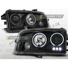 Dodge Charger LX 2006-10 predné číre svetlá Angel Eyes CCFL Black (LPD012)