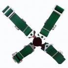 4-bodové bezpečnostní pásy CAM LOCK 50 mm zelené