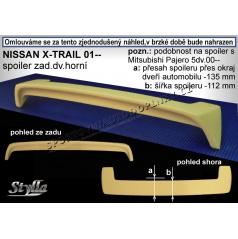 NISSAN X-TRAIL (01+) spoiler zad. dveří horní NX1L