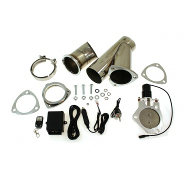 Elektrická výfuková klapka, kompletní set s potrubím 70 mm