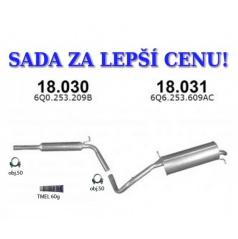 Montážna sada komplet výfuk Škoda Fabia 1.0i, 1.4i, 1.4i-16V, Hatchback