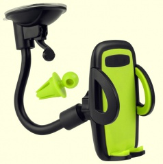 Držák mobilního telefonu gelový zelený (uchycení na sklo i do větráku)