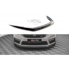 Spoiler pod přední nárazník ver.1 pro Škoda Octavia III RS Facelift Mk3, černý lesklý plast ABS